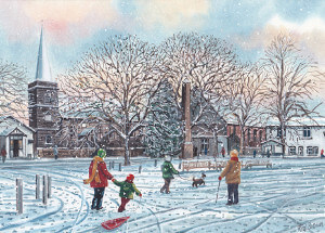 Christmas Card - Churchtown in Winter