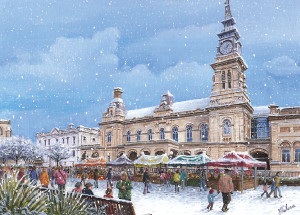 Christmas Card -  Southport in Winter